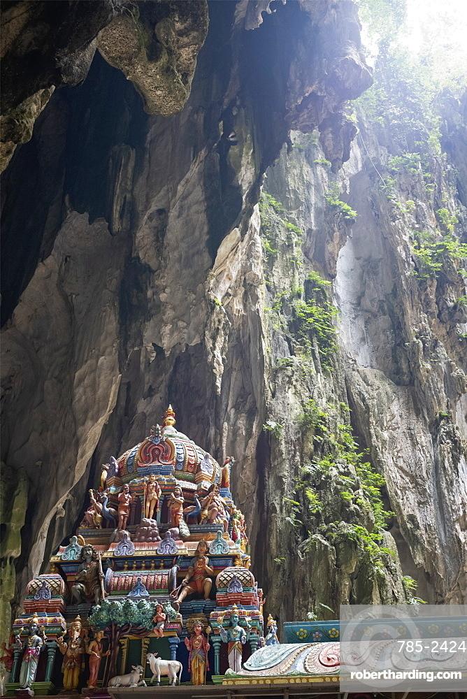 A Hindu Shrine within the Batu Caves, near Kuala Lumpur, Malaysia, Southeast Asia, Asia