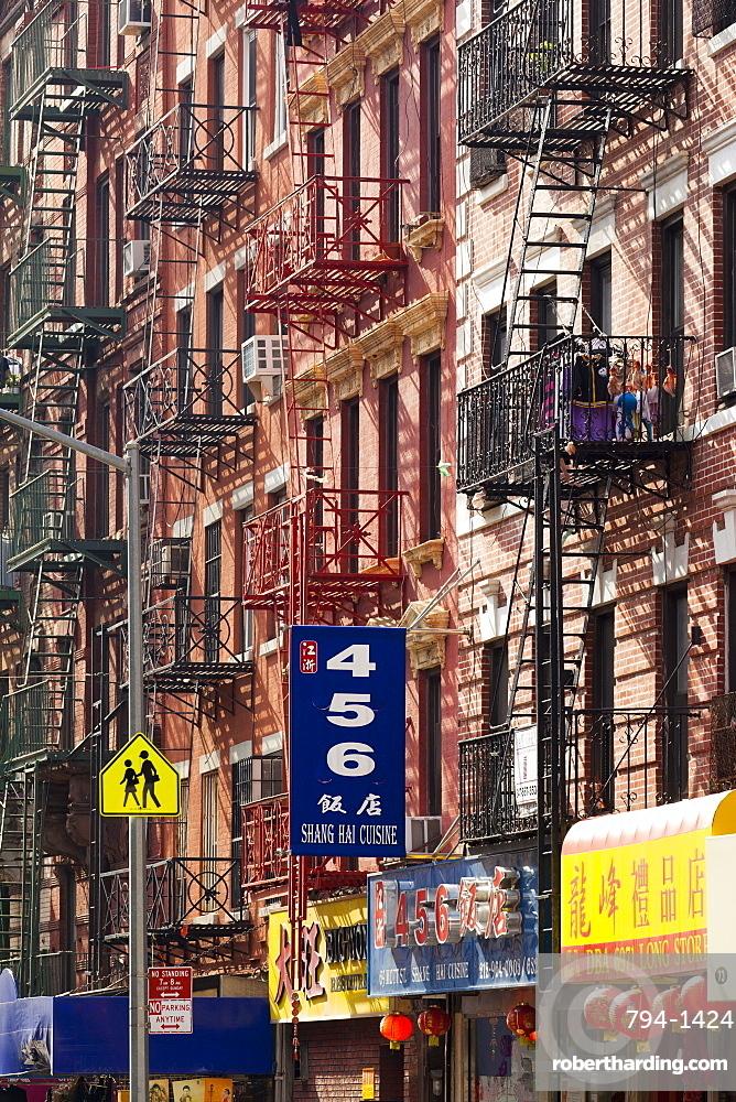 Street scene in China Town, Manhattan, New York City, New York, United States of America, North America