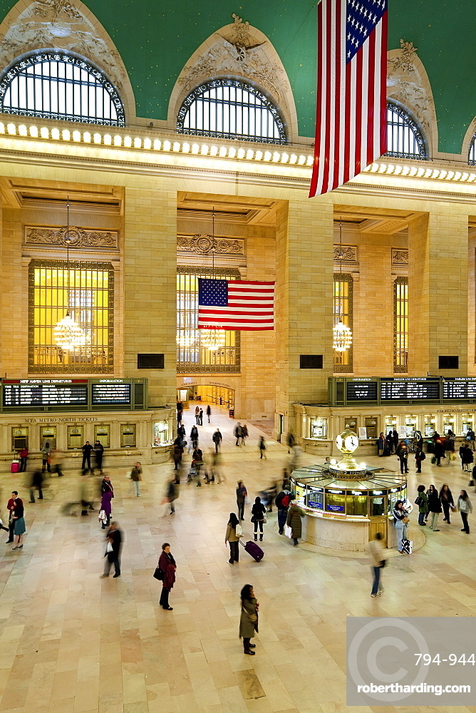 Central Station Hall, Grand Central Station, Manhattan, New York City, New York, United States of America, North America