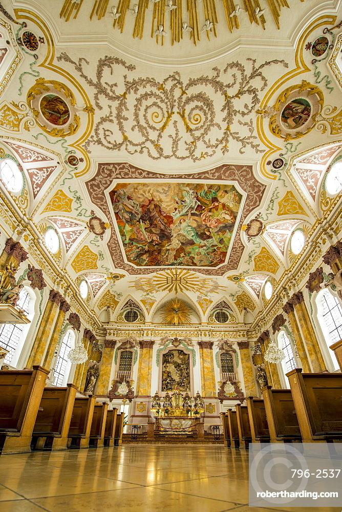 Interior of the Burgersaal (Burgersaalkirche) Citizen's Hall, Munich, Bavaria, Germany, Europe