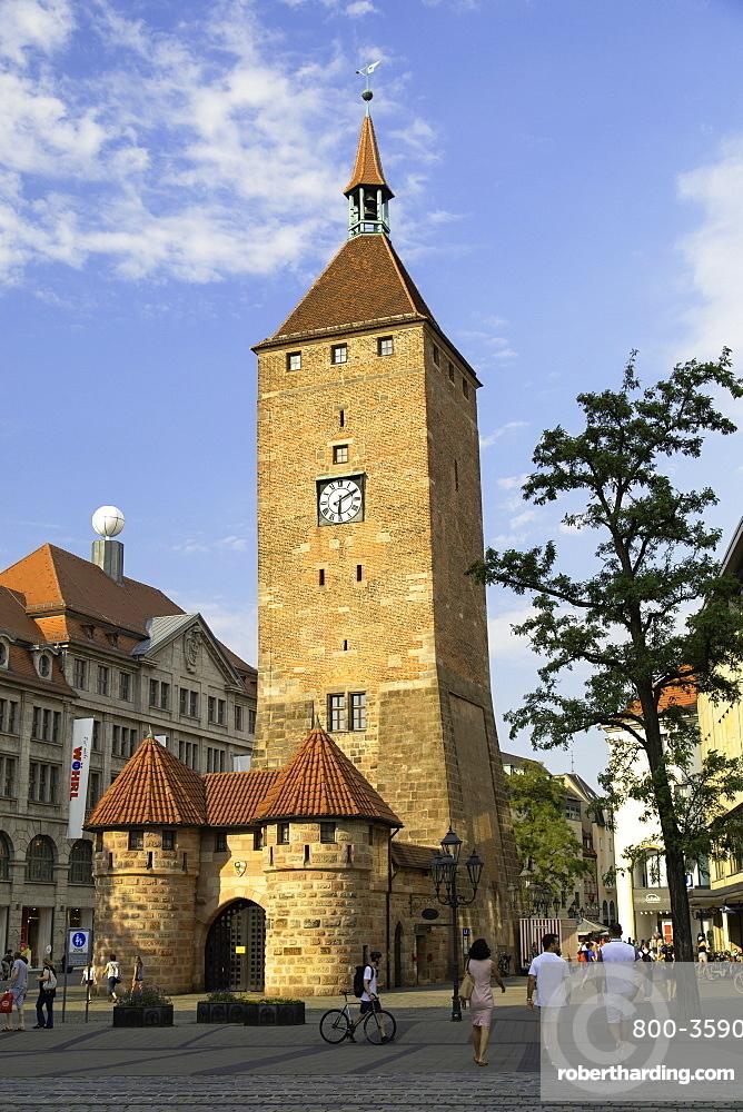 Weisser Turm, Nuremberg, Bavaria, Germany, Europe