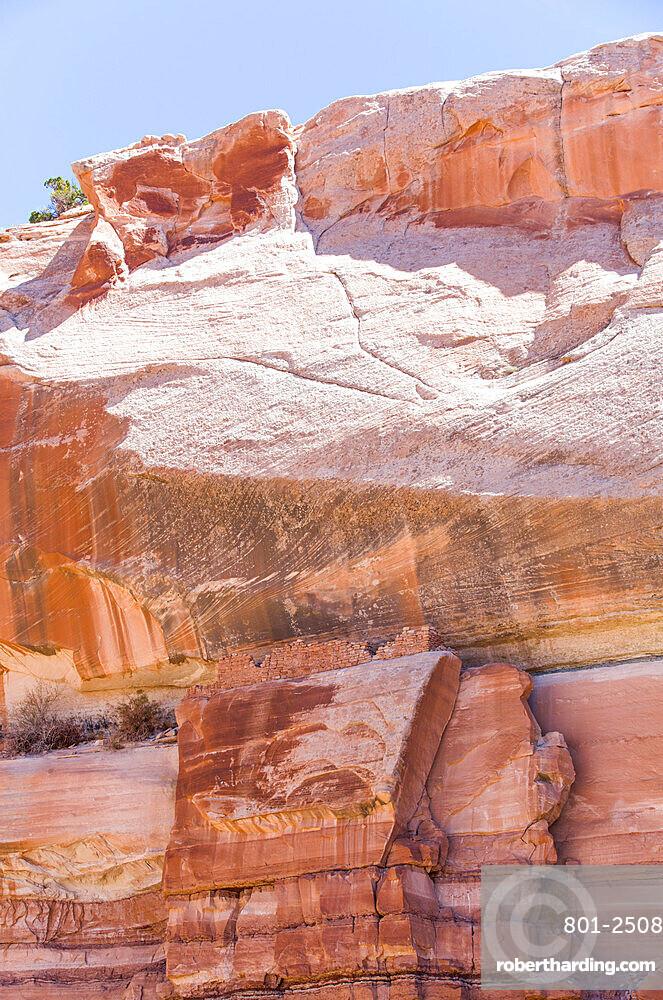 Pedestal Ruins, Ancestral Pueblito, Bears Ears National Monument, Utah, USA