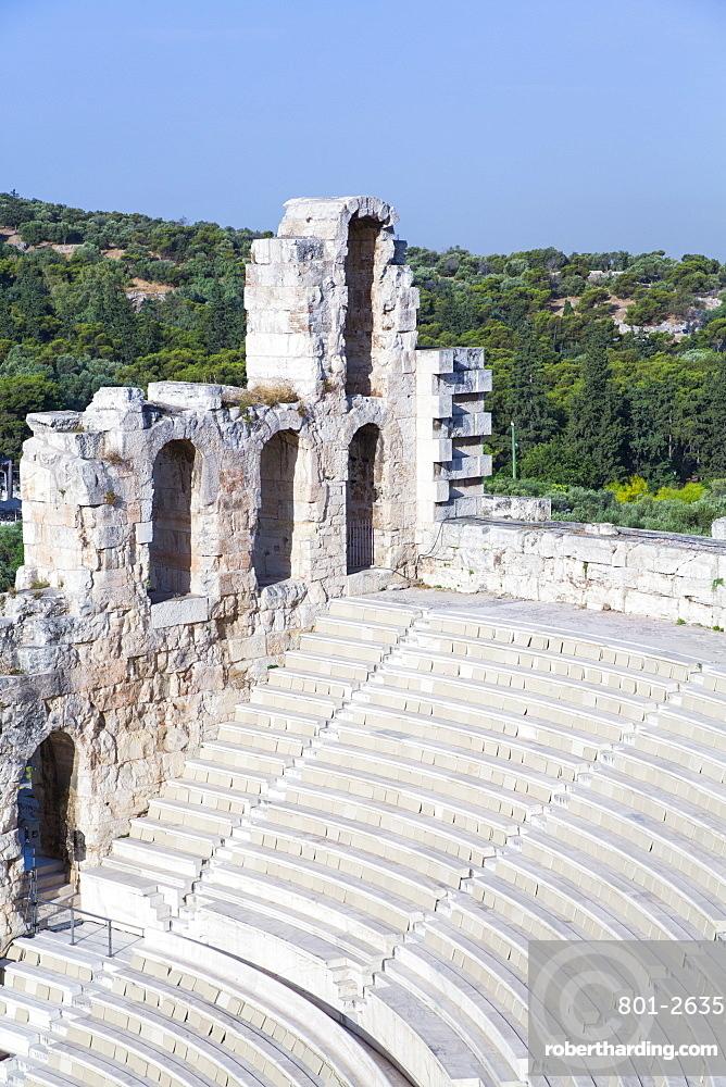 Theatre of Herod Atticus, Acropolis, UNESCO World Heritage Site, Athens, Greece, Europe