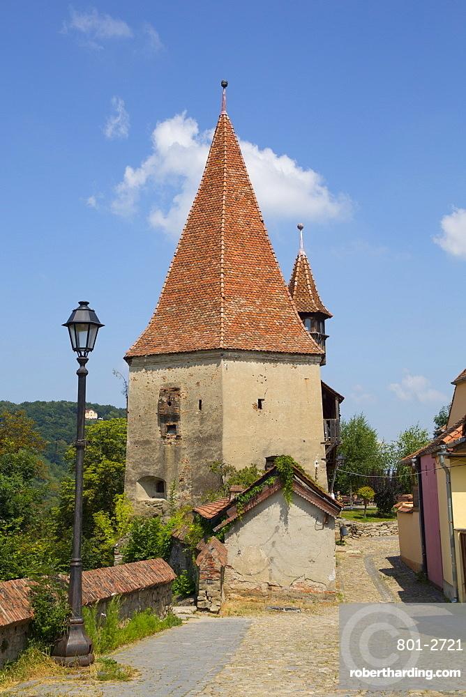 Shoemaker's Tower, Sighisoara, UNESCO World Heritage Site, Mures County, Transylvania Region, Romania