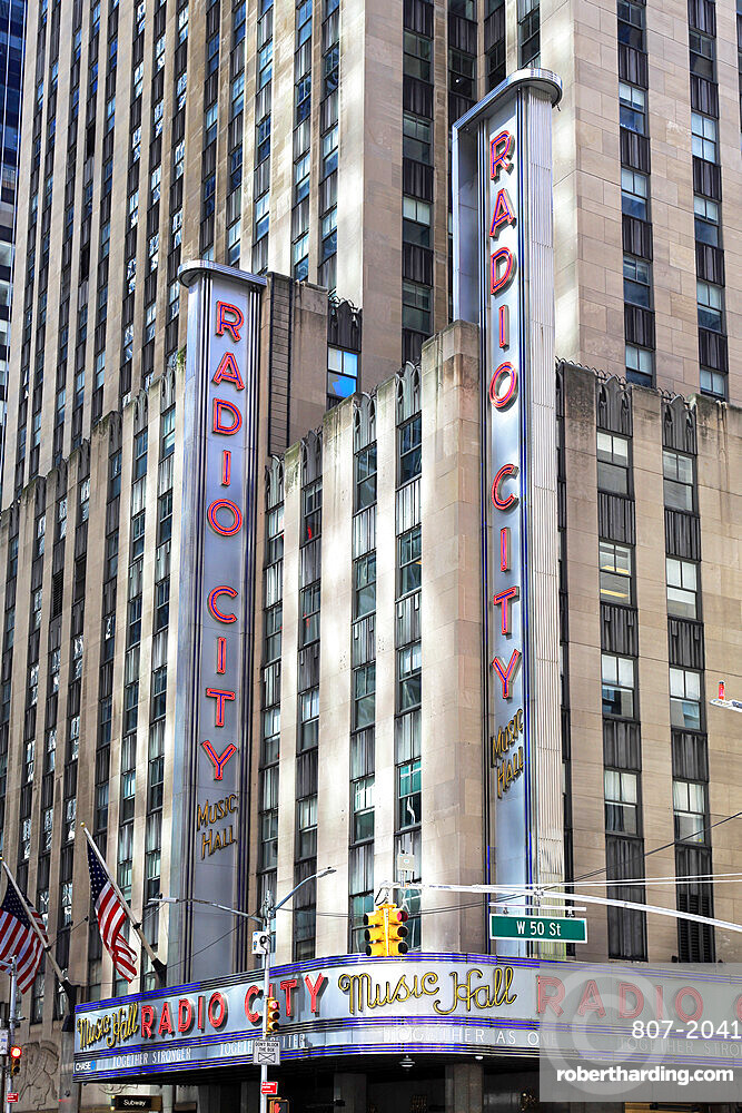 Radio City Music Hall, Rockefeller Center, Midtown, Manhattan, New York City, New York, USA