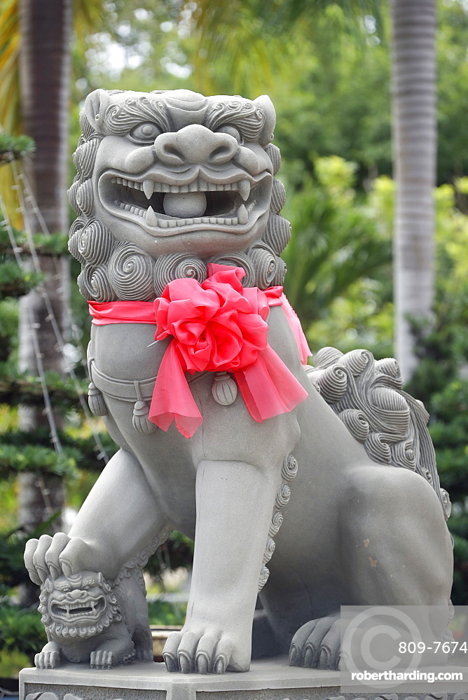 Imperial guardian lion statue, Chau Doc, Vietnam, Indochina, Southeast Asia, Asia
