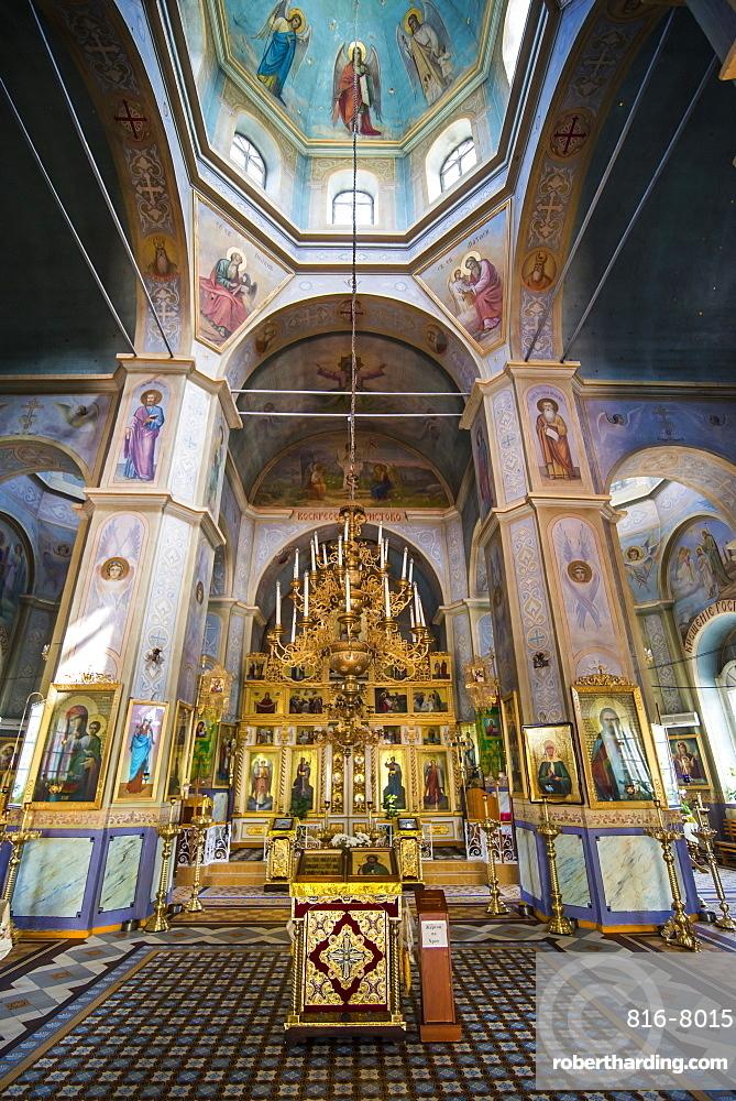 Inside the Russian Orthodox Church building in the center of Comrat capital republic of Gagauzia, Moldova