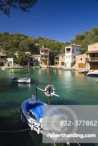 Harbour of Cala Figuera, fishing boats, Mallorca, Majorca, Balearic Islands, Mediterranean Sea, Spain, Europe