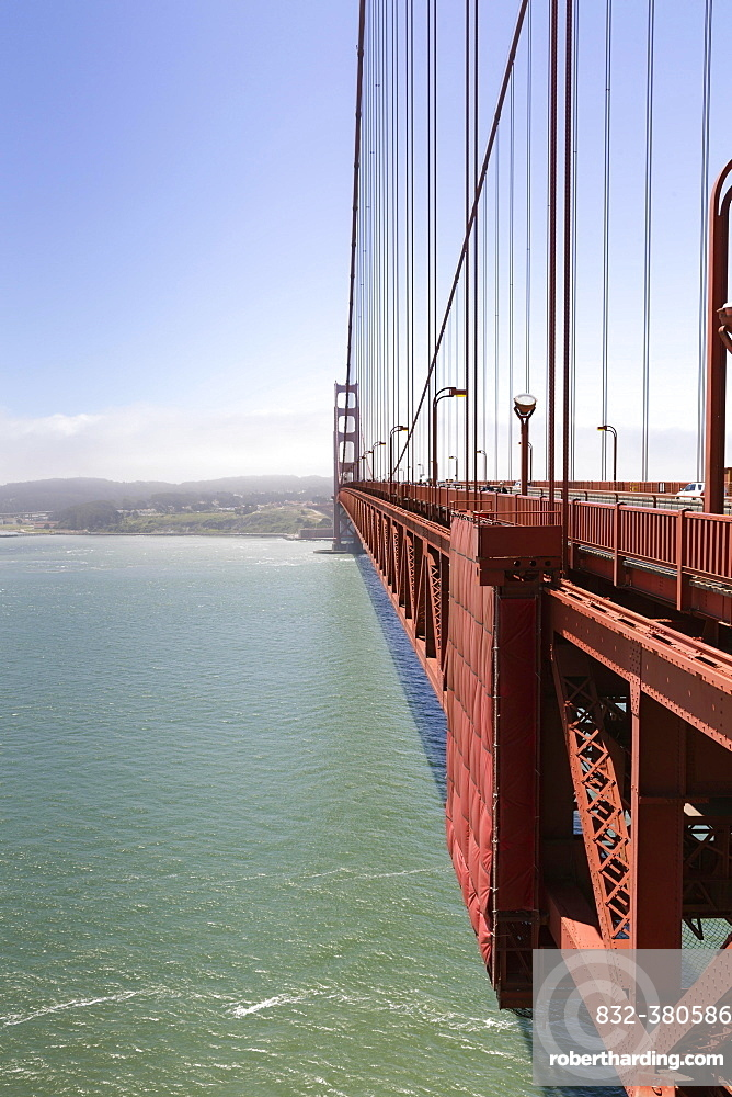 West side of the Golden Gate Bridge, San Francisco, California, USA, North America