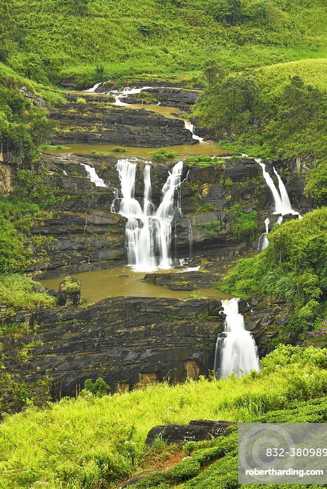 St. Clair's Falls, Central Highlands, Talawakale, Sri Lanka, Asia