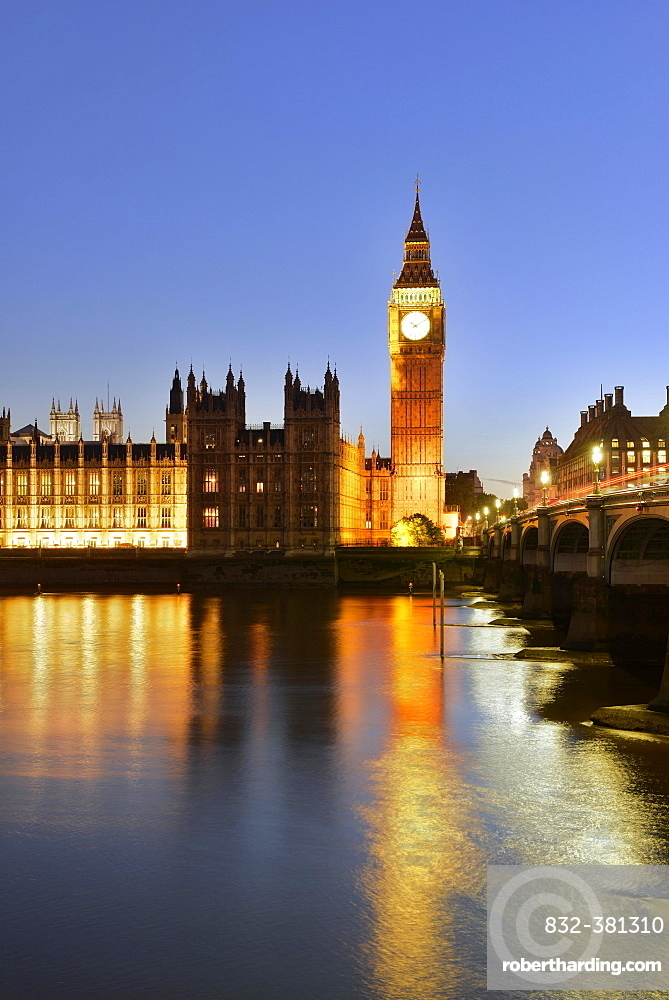 Big Ben and Houses of Parliament, Thames, London, England, United Kingdom, Europe