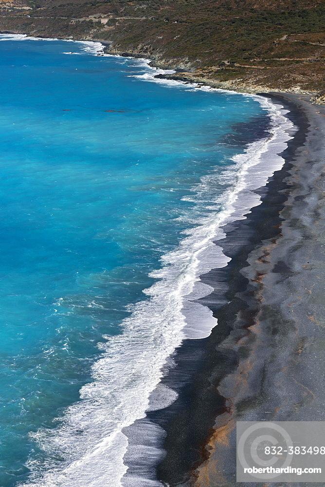 Beach of Nonza, Cap Corse, Haute-Corse, Corsica, France, Europe