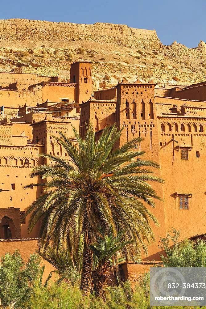 Kasbah Ait-Benhaddou, Atlas Mountains, near Ouarzazate, Morocco, Africa