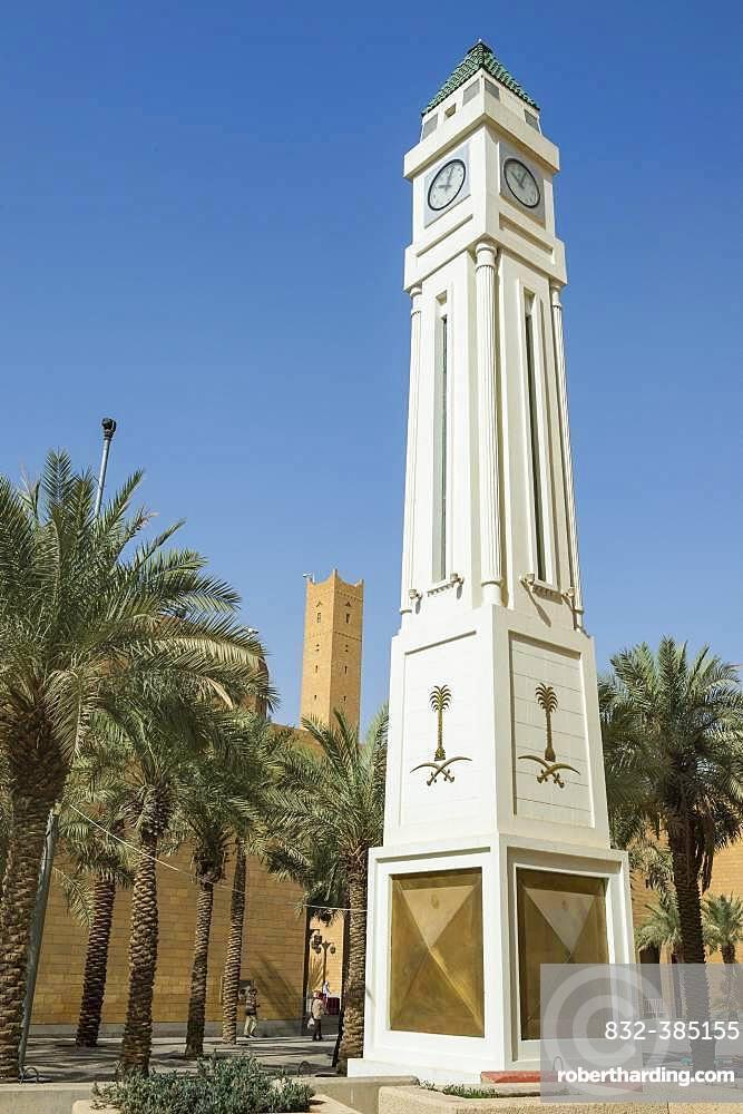 Clock tower of Riad, Saudi Arabia, Asia