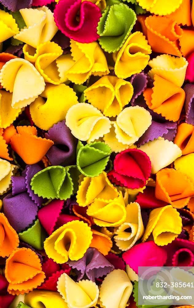 Farfalle, multi colored pasta, Canada, North America