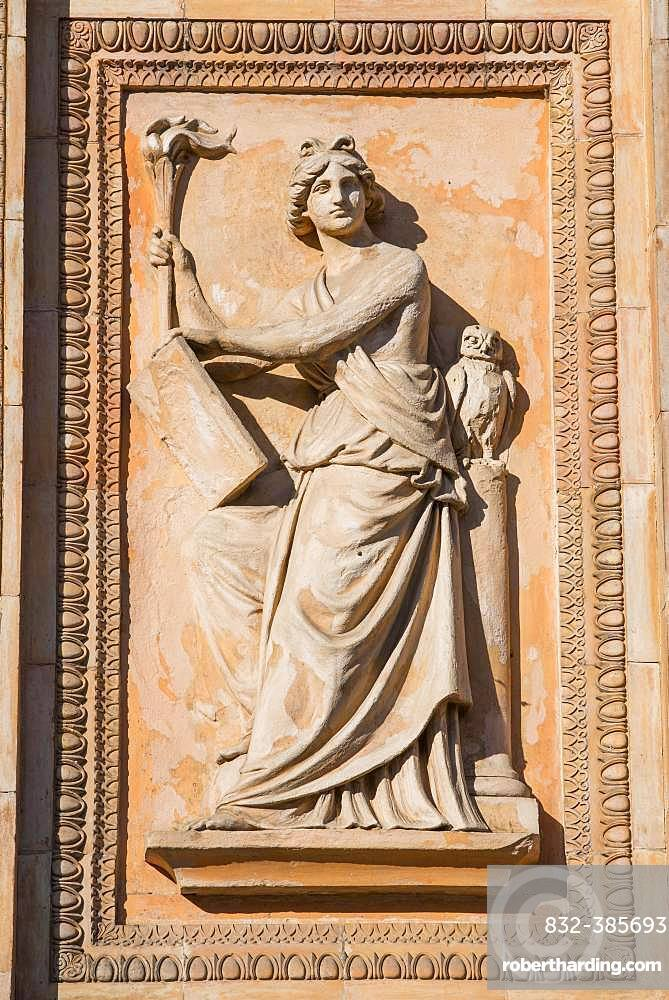 Relief picture at the Triumphtor, historical Winzerberg, Potsdam, Brandenburg, Germany, Europe