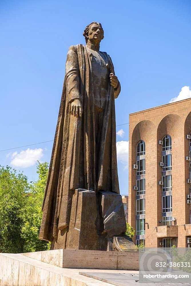 Monument to Garegin Nzhdeh (Garegin Nschdeh), 1886-1955, Armenian statesman and military strategist, Aram Road, Yerevan, Yerevan, Armenia, Asia