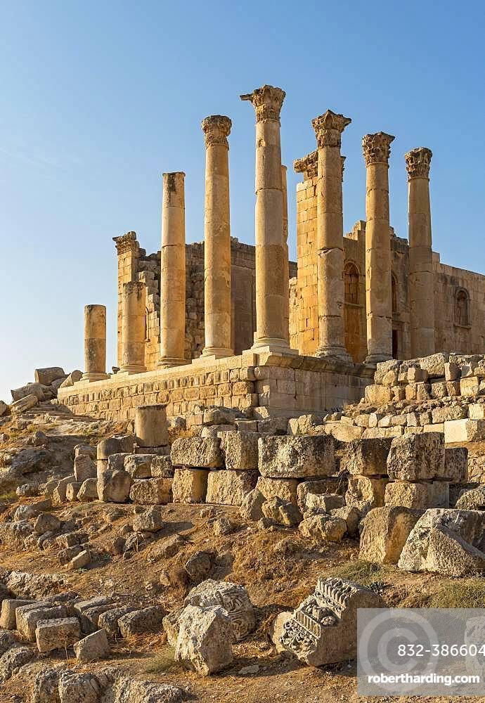 Temple of Zeus, Jerash, Jordan, Asia