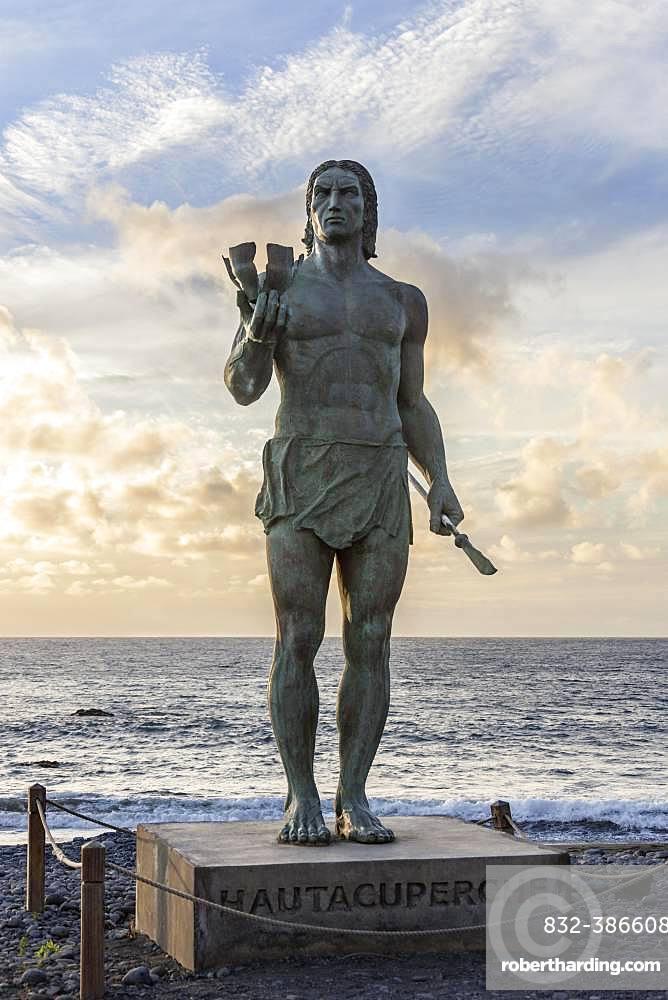 Hautacuperche Monument, La Puntilla, La Gomera, Valle Gran Rey, Canary Islands, Spain, Europe