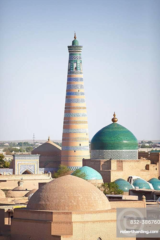 Minaret Islam Khodja, Ichan Qal'а, Chiwa Old Town, Xorazm Province, Uzbekistan, Asia