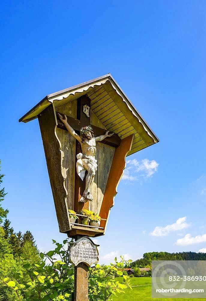 Wayside shrine, Michaelbeuern, Flachgau.Land Salzburg, Austria, Europe