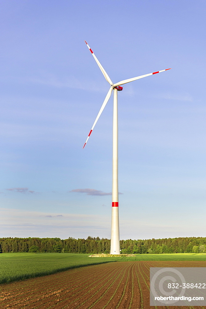 Wind turbine, wind wheel, wind farm, Baden-Wuerttemberg, Germany, Europe