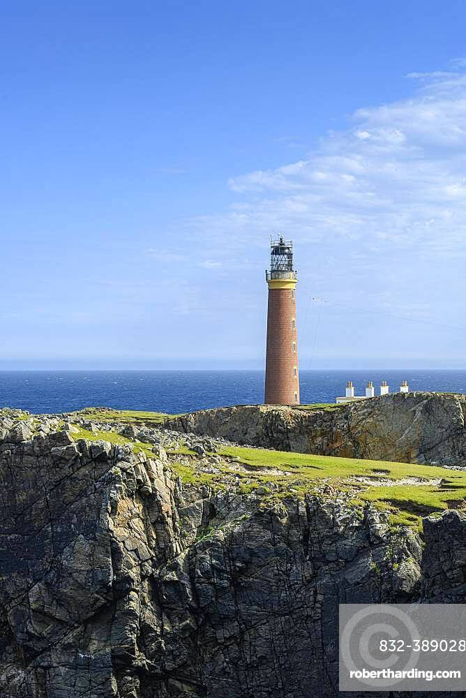 The Butt-of-Lewis Lighthouse at the northernmost point of the Isle of Lewis, Isle of Lewis, Scotland, United Kingdom, Europe