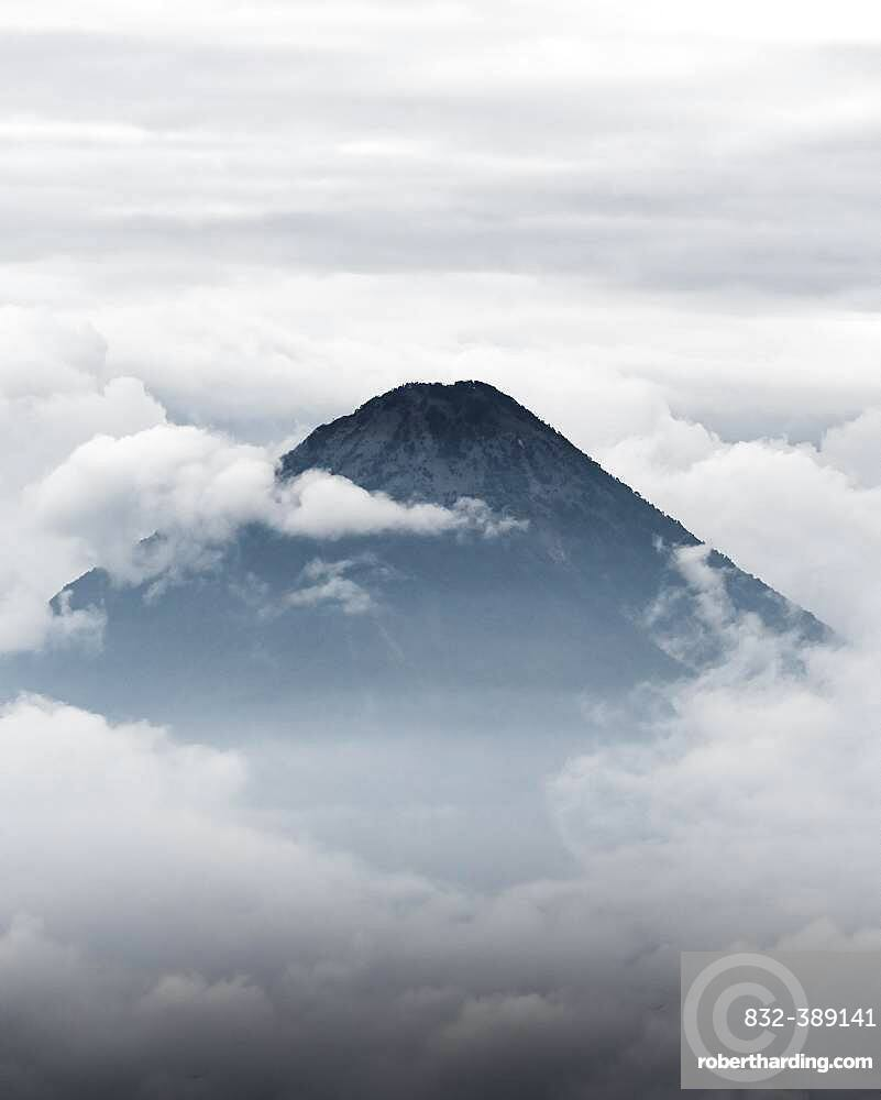Volcano surrounded by clouds, Volcan Pacaya, Guatemala, Central America