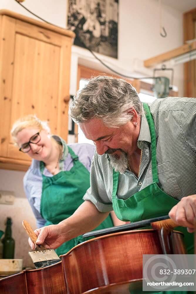 Master Luthier Rainer W. Leonhardt, Mittenwald, Bavaria, Germany, Europe