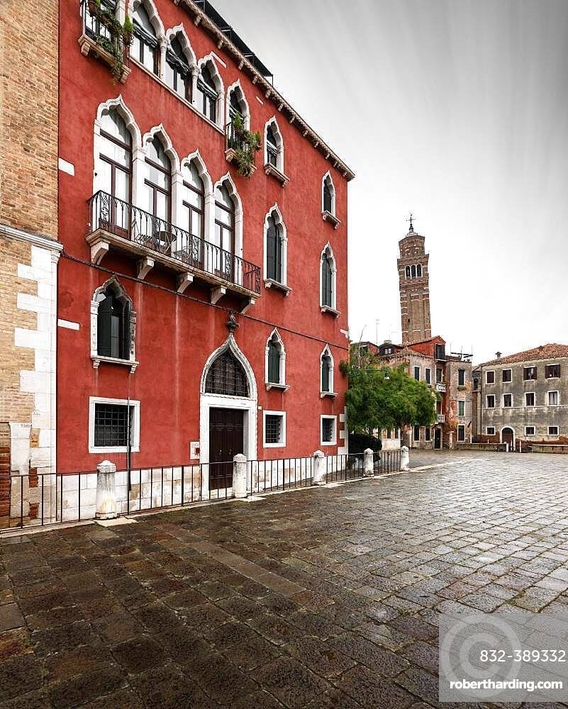 Leaning Tower of Campo Santo Stefano, Venice, Italy, Europe