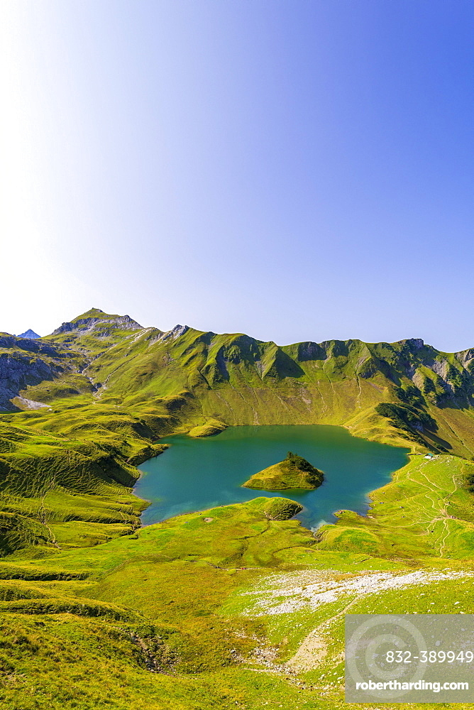 Schrecksee and Allgaeu Alps, Bad Hindelang, Allgaeu, Bavaria, Germany, Europe