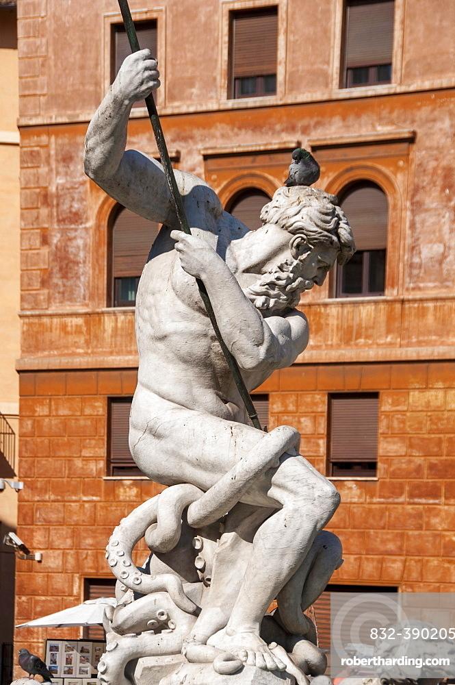 Piazza Navona, Fountain of Neptune, close-up, Rome, Lazio, Italy, Europe