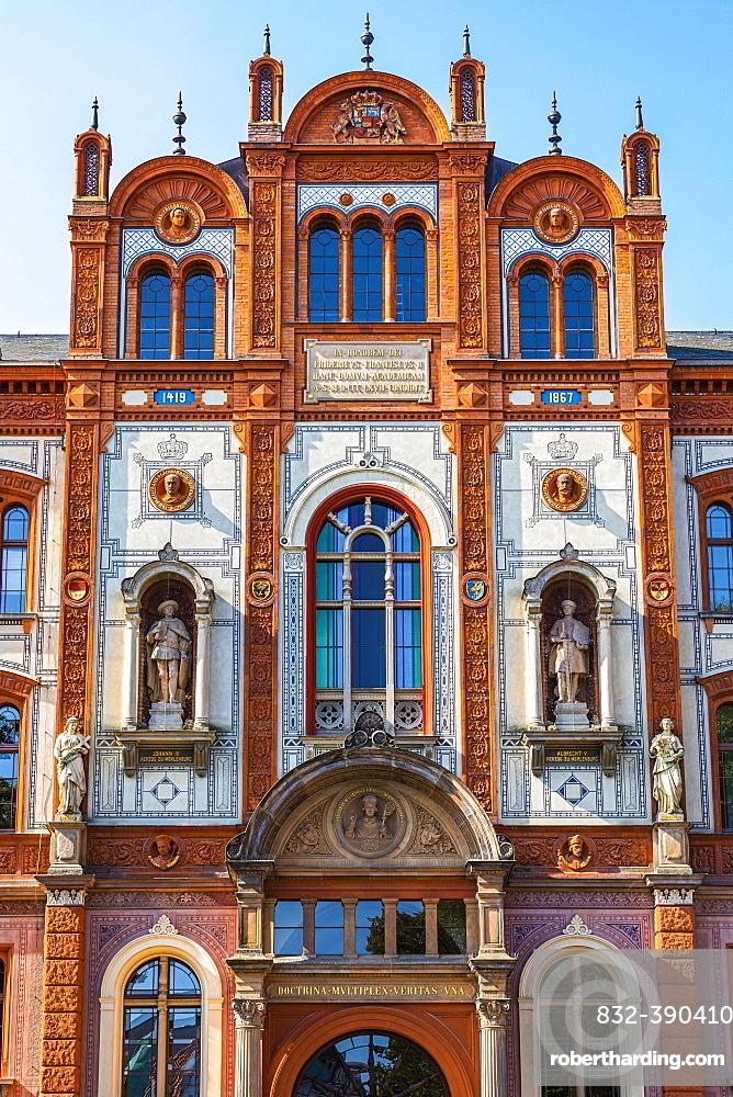 Renaissance facade of the University of Rostock, Rostock, Baltic Sea, Mecklenburg-Western Pomerania, East Germany