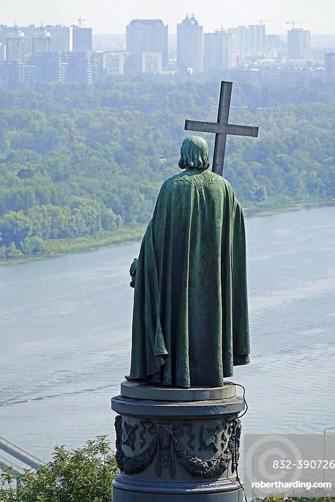 Monument to Vladimir the Saint, Dnepr River, Kiev, Ukraine, Europe