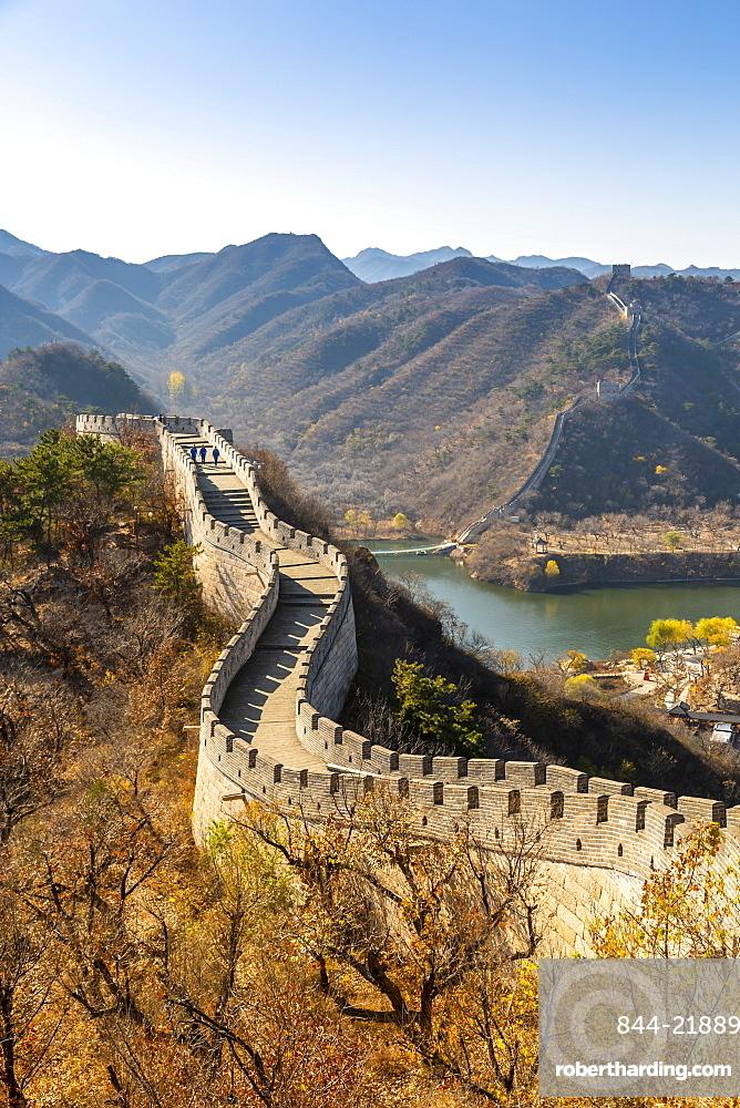 View of Great Wall of China at Huanghua Cheng or Yellow Flower, Xishulyu, Jiuduhe Zhen, Huairou, People's Republic of China, Asia