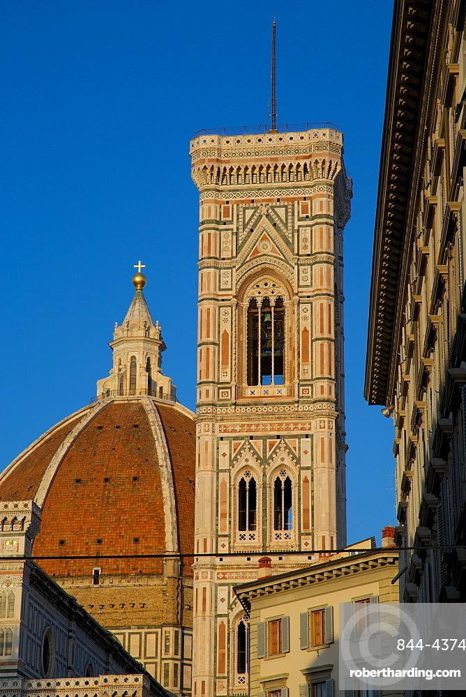 Campanile, the Duomo (Santa Maria del Fiore), Florence, UNESCO World Heritage Site, Tuscany, Italy, Europe