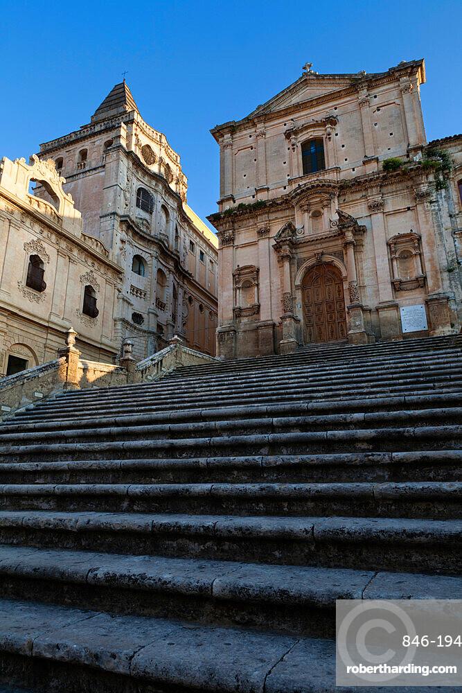 Baroque church of San Francesco, Noto, Sicily, Italy, Europe