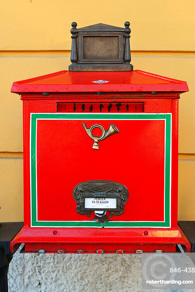 Hungarian mail box, Budapest, Hungary, Europe
