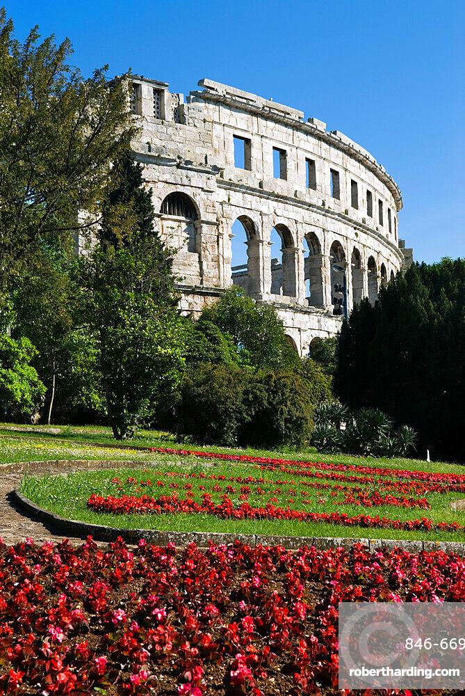 The Roman Amphitheatre, Pula, Istria, Croatia, Europe