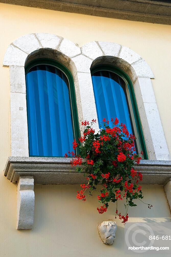 Window in old town, Rab Town, Rab Island, Kvarner Gulf, Croatia, Europe