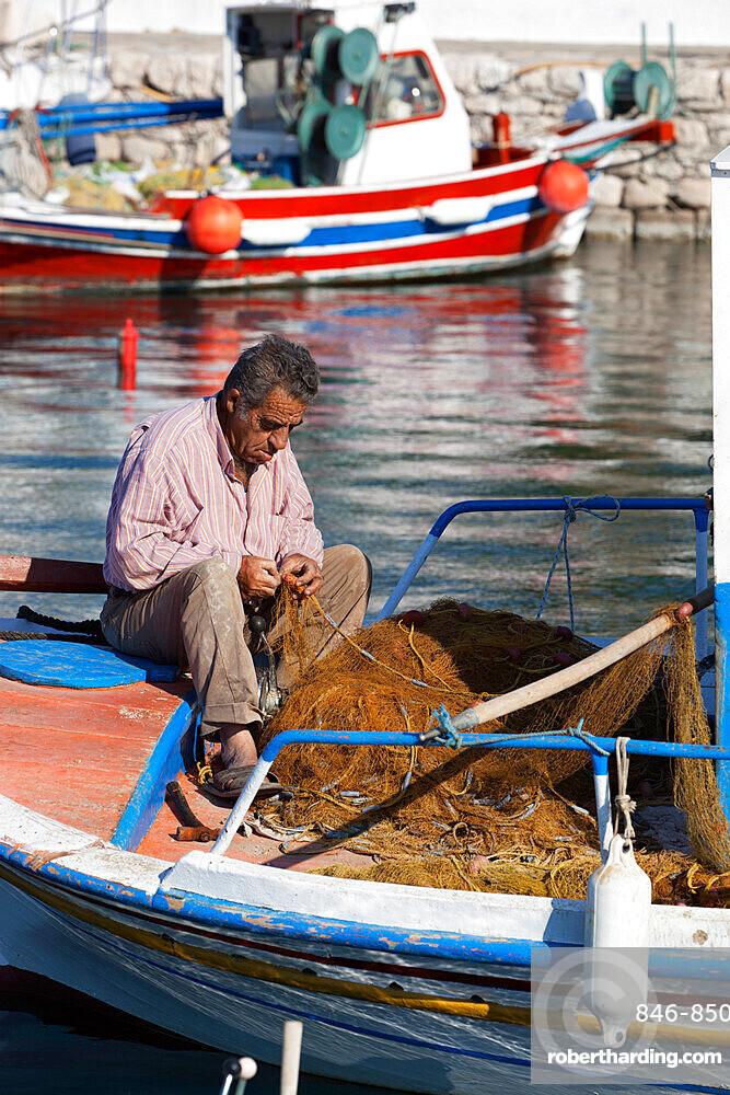 Local fisherman, Ormos Marathokampos, Samos, Aegean Islands, Greece