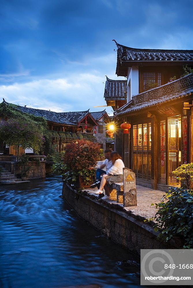 Lijiang at twilight, Yunnan Province, China, Asia
