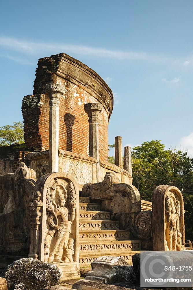 Vatadage Temple, Polonnaruwa, UNESCO World Heritage Site, North Central Province, Sri Lanka, Asia