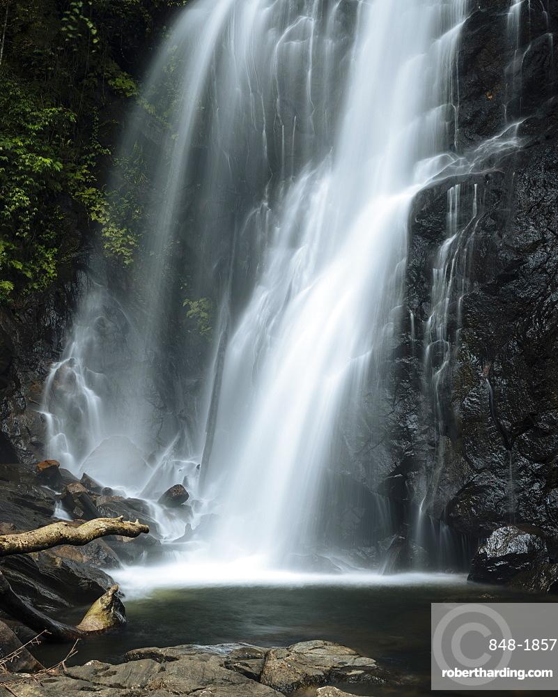Waterfall, Sinharaja Rainforest National Park, Deniyaya, Southern Province, Sri Lanka, Asia