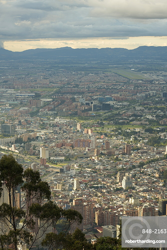 View from Cerro Monserrate, Bogota, Cundinamarca, Colombia, South America
