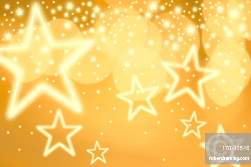 Glowing background with stars, studio shot
