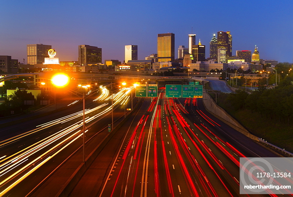 USA, Georgia, Atlanta, Traffic at downtown
