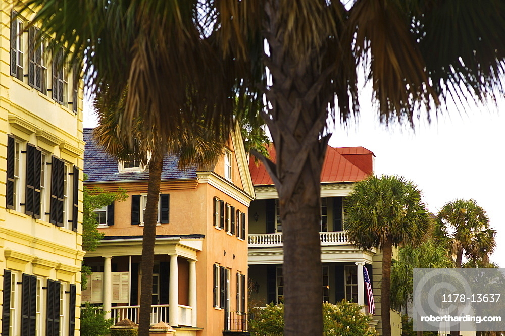 USA, South Carolina, Charleston, Houses in residential district