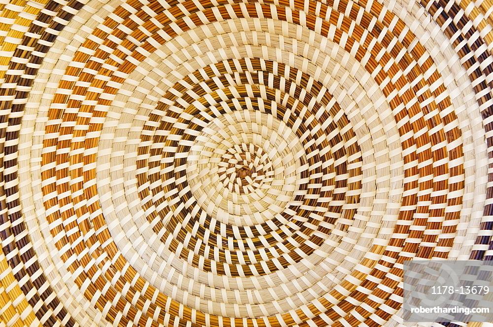 USA, South Carolina, Charleston, Sweetgrass basket pattern