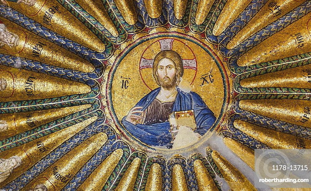Turkey, Istanbul, Kariye Museum, Jesus Christ, fresco